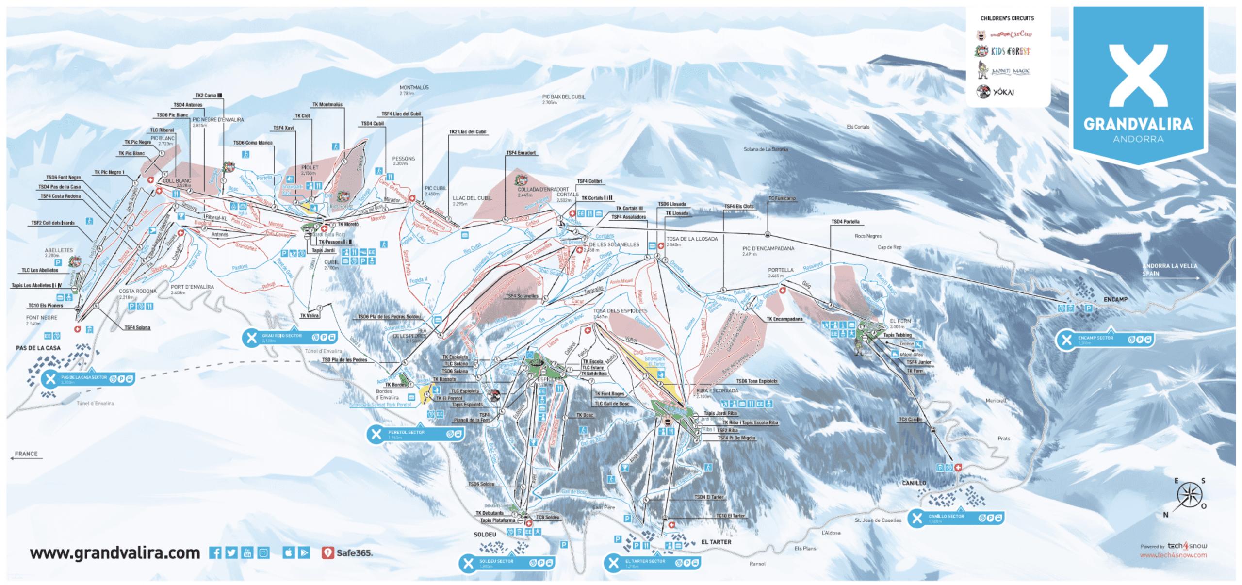 Grandvalira Piste Map